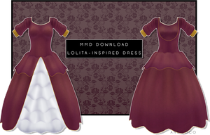MMD- Lolita Inspired Dress [DOWNLOAD] by AneCoco