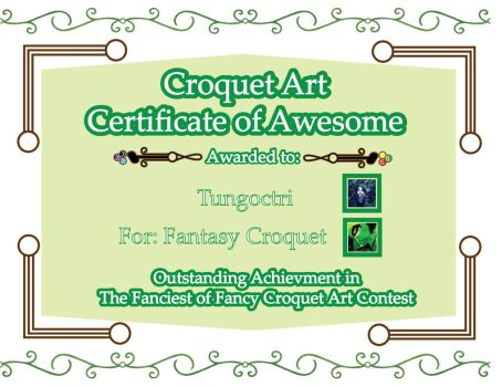 Croquet Certificate of Awesome: Fantasy Croquet by The-Author-M