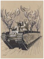 WWI Tank by fizz1173
