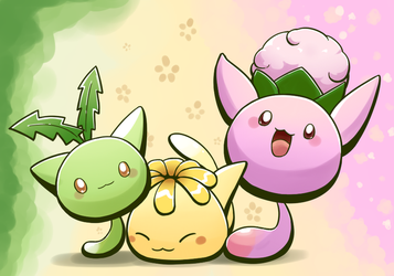 Beta Hoppip Line by aquabluu