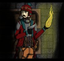 Aviator in a Crypt by LassieTheRex