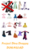 MMD Project Diva Dresses --DL-- by amillionn