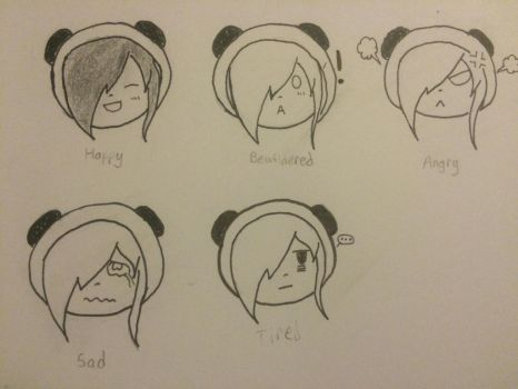 My Chibi Facial Expressions by Angelinmi