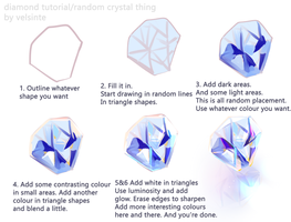 Diamond/Crystal step by step Tutorial by Velsinte