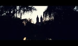 Distant Building In Central Park by ZombieDollTV