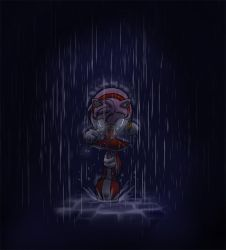 Amy - All alone in the rain by Tigerfog