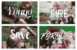 +Font Pack||Young Forever|| by amethxyst