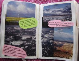 1st Altered Book 23, Favorites by angelstar22