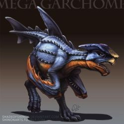 Type Collab: Mega Garchomp by ShadeofShinon