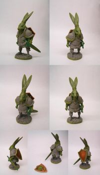 Le lapin chevalier by Atgill