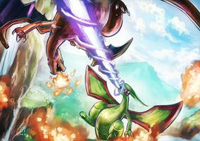 Flygon vs. Charizard by 000SanS000