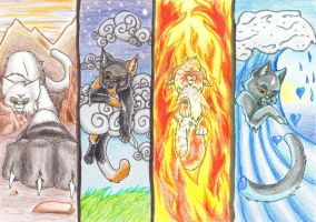 Four Hold the Elements by Simatra