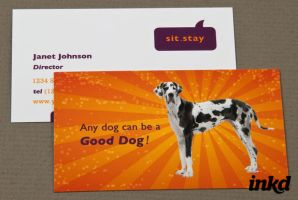 Dog Trainer Business Card by inkddesign