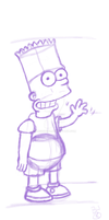 Bart Simpson: First Attempt by TacticalError
