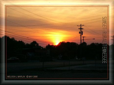 sunset: rural tennessee by fragmented