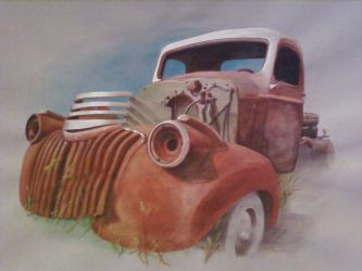Old Rusted Truck by Banegerous