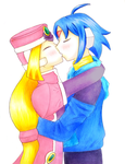 Thetis and Prairie kiss on White Day by KawaiiStorm