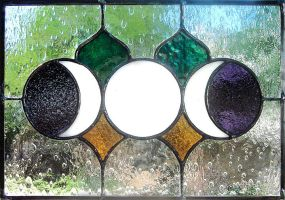 Triple Moon Stained Glass by bigblued