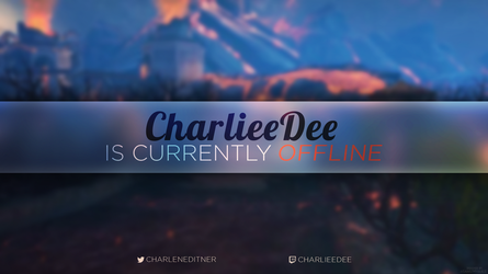 Twitch offline screen for CharlieeDee by Samuwhale