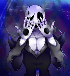 W.D. Gaster in his world by IroniaDevil