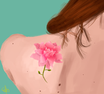 Tattoo Flower by CC3TheArtist