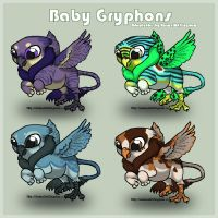 Baby Gryphon Adoptables (2 left) by AnimalArtKingdom