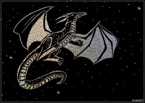 Holographic dragon by Eleithel