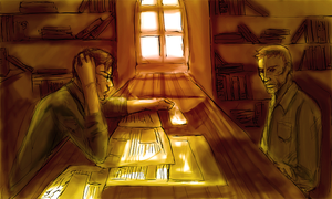 reading, between the lines by radishface