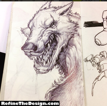 Lycan Sketch by SketchMonster1