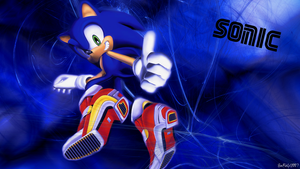 Sonic the Hedgehog Wallpaper by Starlight-Sonic