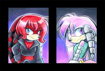 Rival Sisters Art Cards by Tigsie