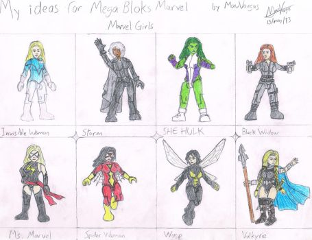 My ideas for Mega Bloks - Marvel Girls by TheMVAproductions