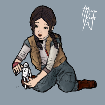 Young Jyn Erso by bazume