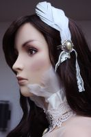 Bridal feather collar 2 by Pinkabsinthe