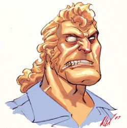 brock samson colored by Alex0wens
