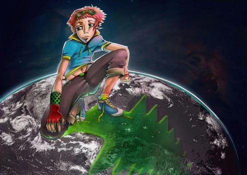 boy on the planet by Cefys