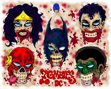 DC Zombies Tattoo Flash by MonsterInk
