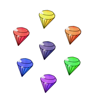 7 Chaos Emeralds: Fleetway by FrostTheHobidon