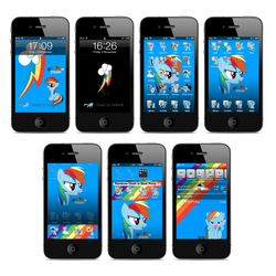 Rainbow Dash iPhone and iTouch Theme by FozzyWig