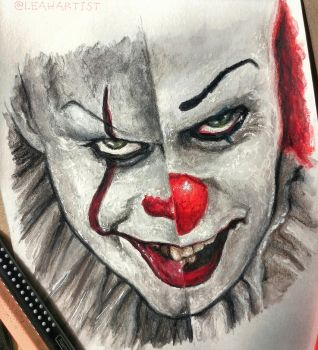 Pennywise portrait illustration by Cleicha
