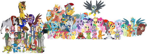 The Heroes, the DigiDestined and their Digimon by iamnater1225