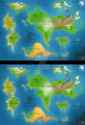 My world map by Horned-Lyzz