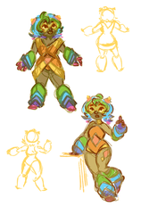 Bismuth sketches by Snuggly-Duckling