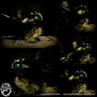 Handmade OOAK Poseable Feather Creature by SonsationalCreations