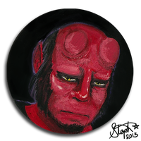 Hellboy portrait by Myrcury-Art