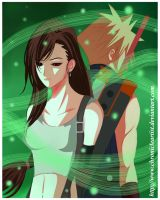 Final Fantasy VII - Tifa and Cloud: So Far Apart.. by ChronicleArtist
