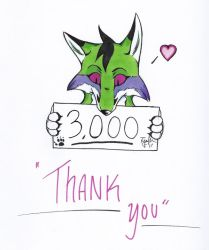 3000 Page Views by MadCheshireFox