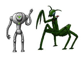 FTL: Engi and Mantis by Griffitts