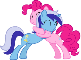 Minuette And Pinkie Hugging by IronM17