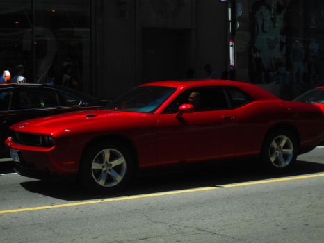 The Big Red Challanger On Yonge by Neville6000